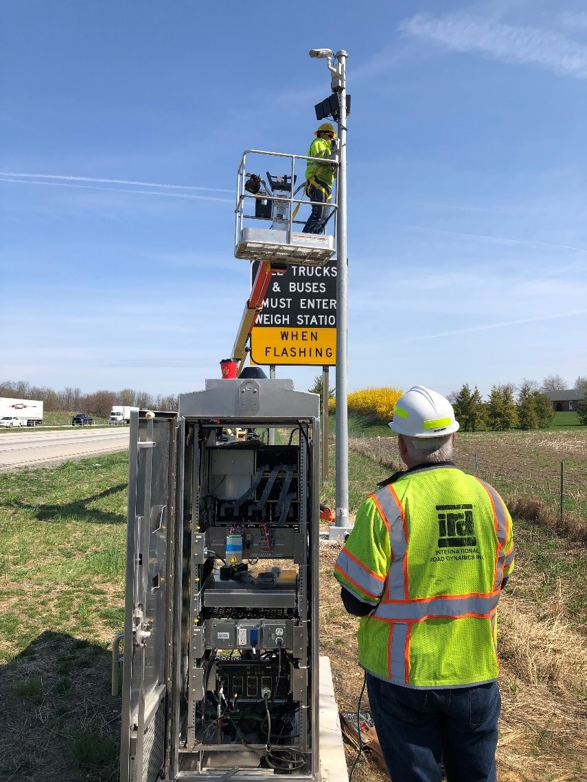 Installing Virtual Weigh Station VWS Components in Pennsylvania